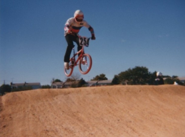 Al Cayne Jumping At Newbridge BMX in 1986