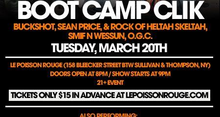 Boot camp Flier, HipHop