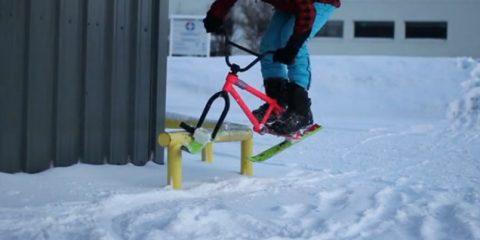 bmx ski, jumping