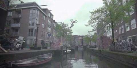 bmx backflip over amsterdam canal