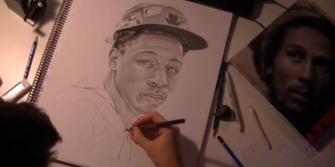 joey badass timelapse drawing