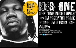 KRS ONE At SOBs