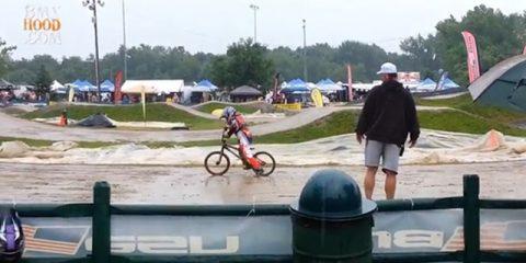 kid slips in mud