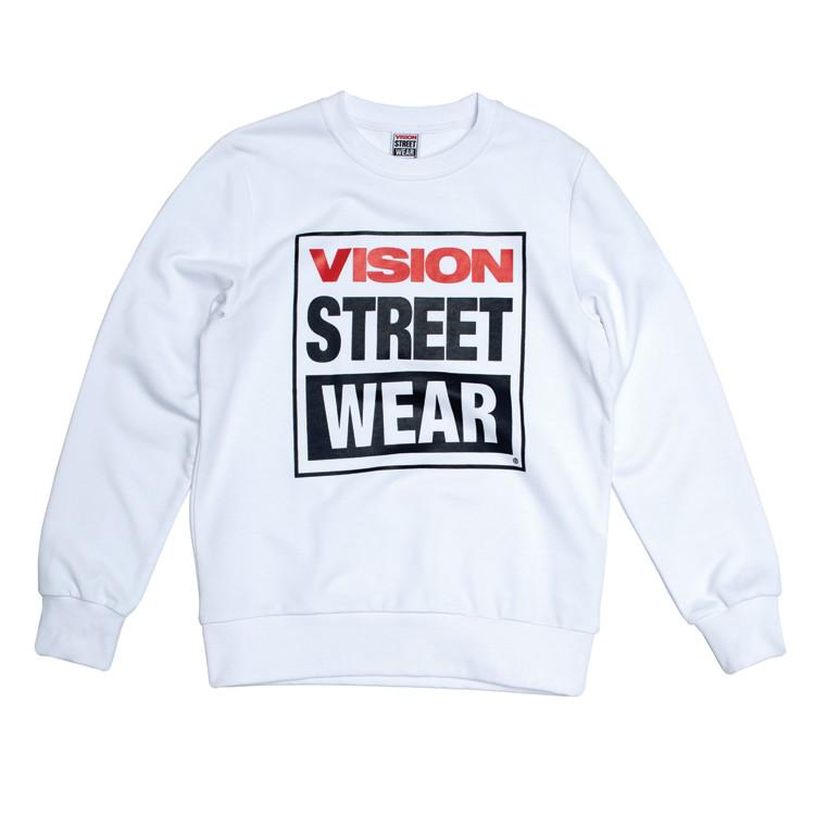 vision streetwear white tee shirt