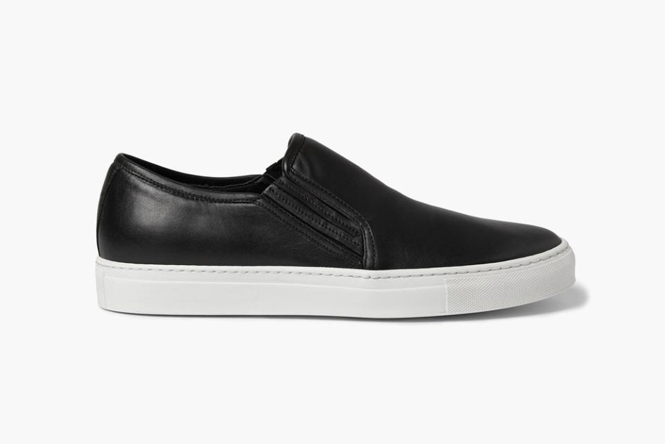 balmain balmain leather slip on sneakers