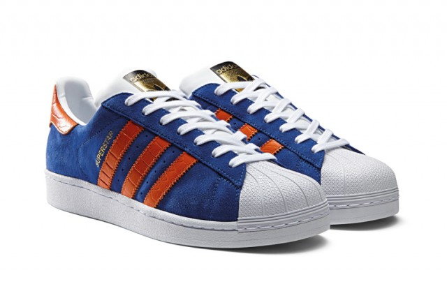 Adidas Superstar Blue Red Stripes