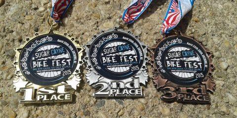 Sugar Cayne Bike fest medals
