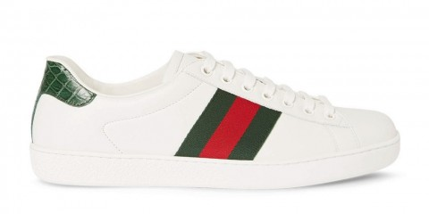 gucci-crocodile-webbing-trimmed-leather-sneakers