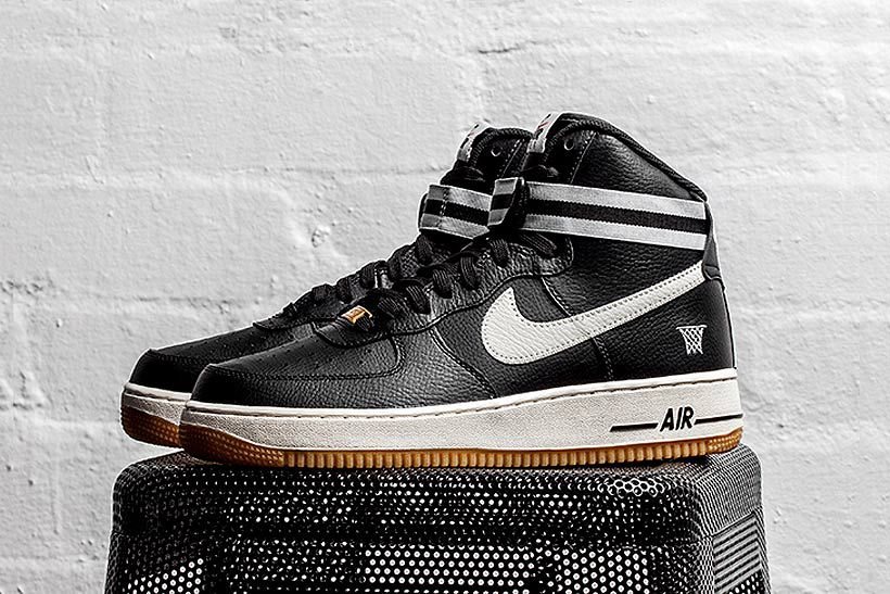 nike air force 1 high black white wolf grey black