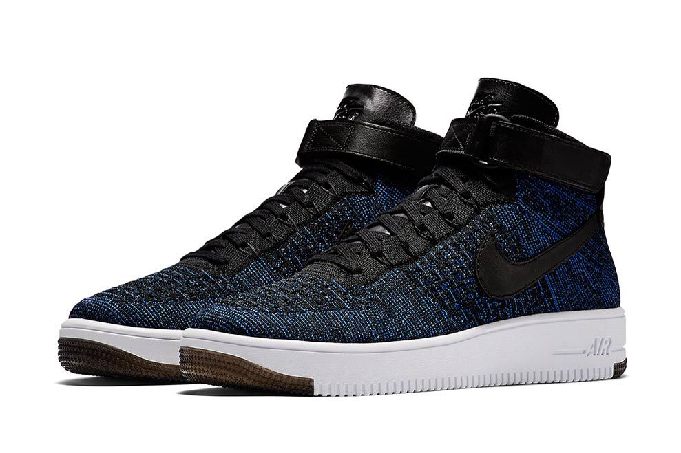 nike air force 1 mid flyknit game royal sugar cayne. Black Bedroom Furniture Sets. Home Design Ideas