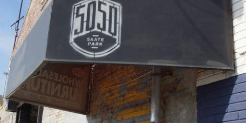 5050 skatepark entrance