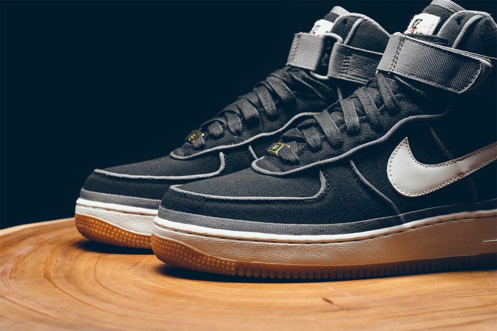 e5d298f7cf4 Black And Orange Nike Air Force Ones High Tops Nike Air Force Ones ...