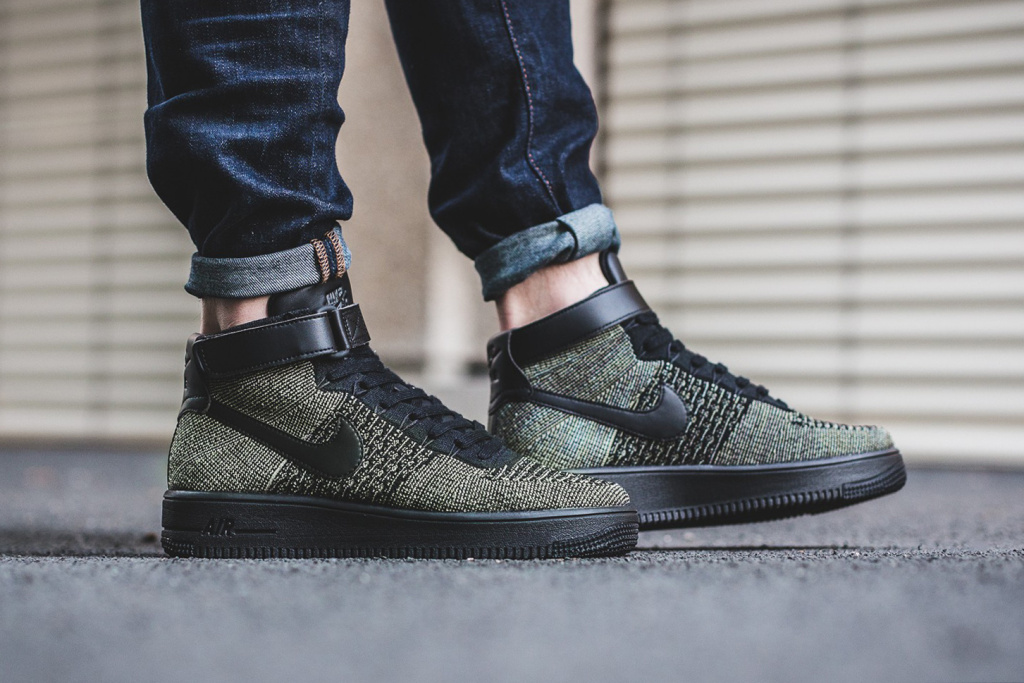 nike air force 1 ultra flyknit mid dark green dopeness sugar cayne. Black Bedroom Furniture Sets. Home Design Ideas