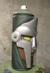 mf doom spray can sculpture