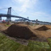 brooklyn pump track, dirt jumps