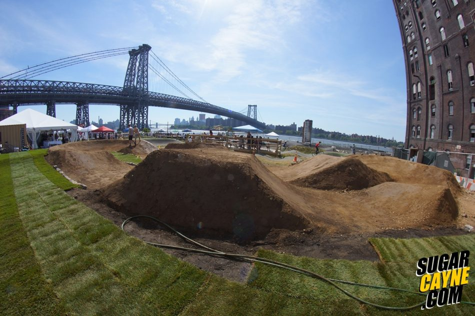 brooklyn pump track, dirt jumps