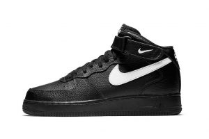 Air Force 1 Mid black sail