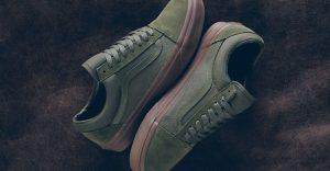 vans old skool olive gum sneakers