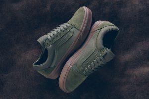 vans old skool olive gum sneakers
