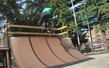 Black Rob, tail whip to fakie