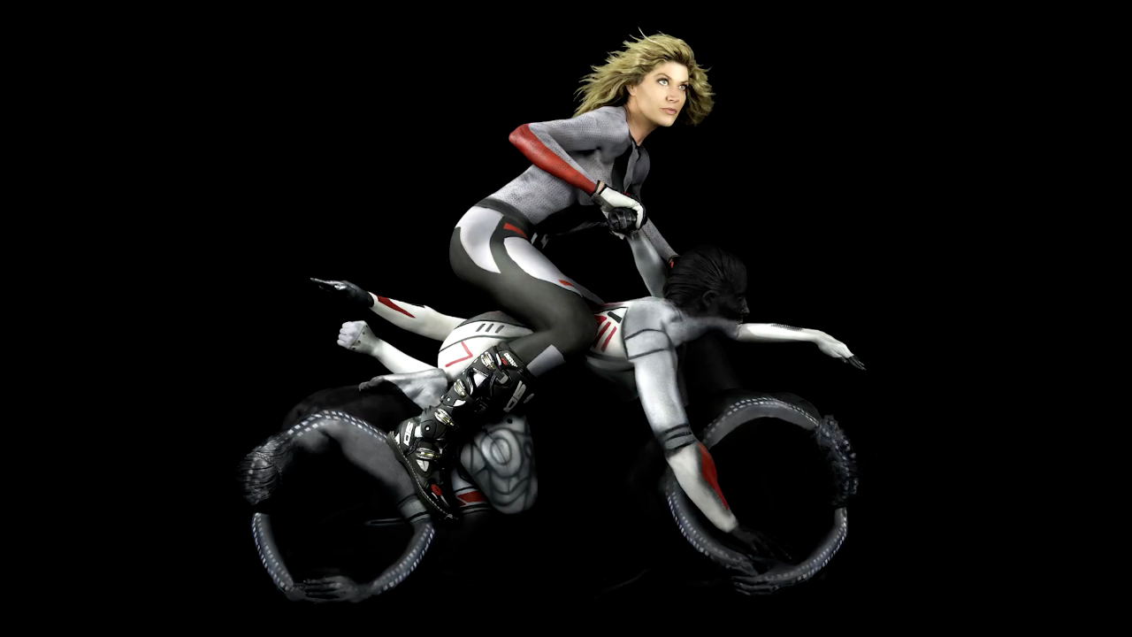 Human motorcycle dirt bike