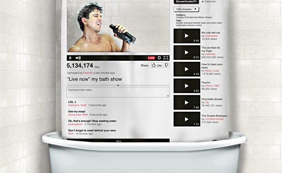 you-tube-online-video-shower curtain