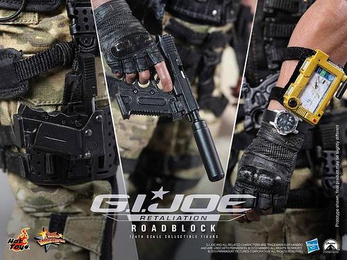 G.I. Joe Retaliation Road Block accessories