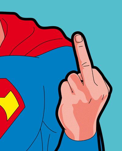 Superman Middle Finger