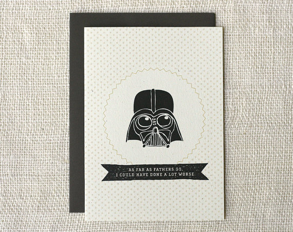 darth vader fathers day card 2