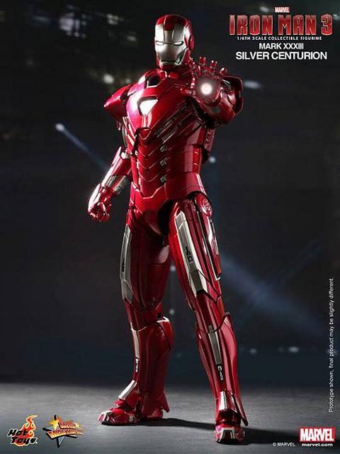 Iron Man 3 Silver Centurion Toy