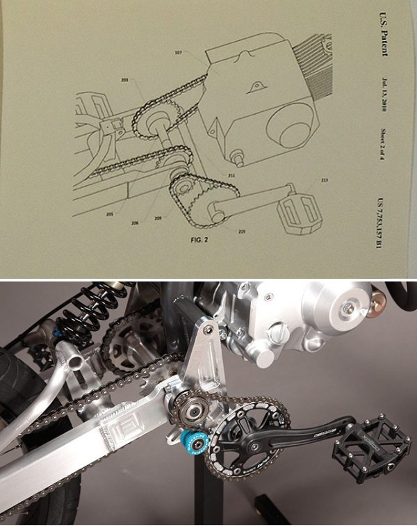 motoped pedal setup
