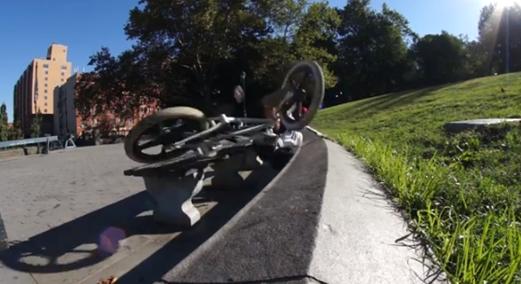 crazy al cayne crashing on bmx bike