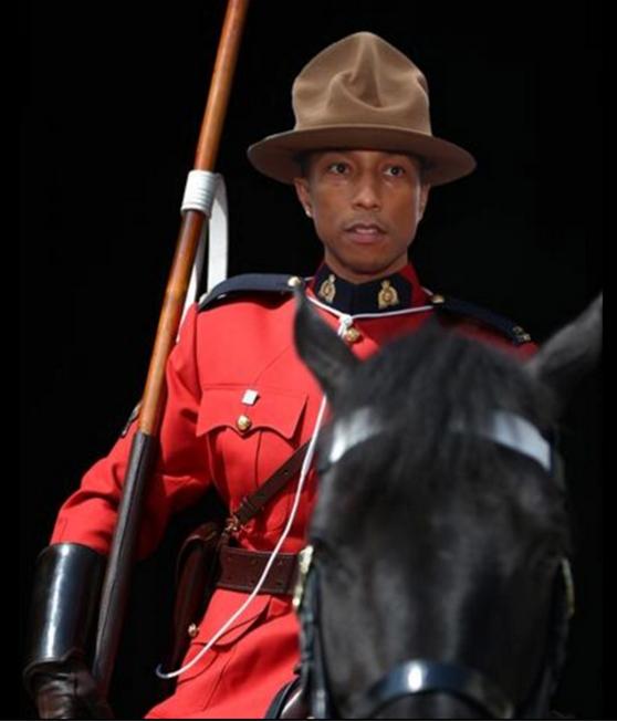 Pharrell Canadian Monunted police