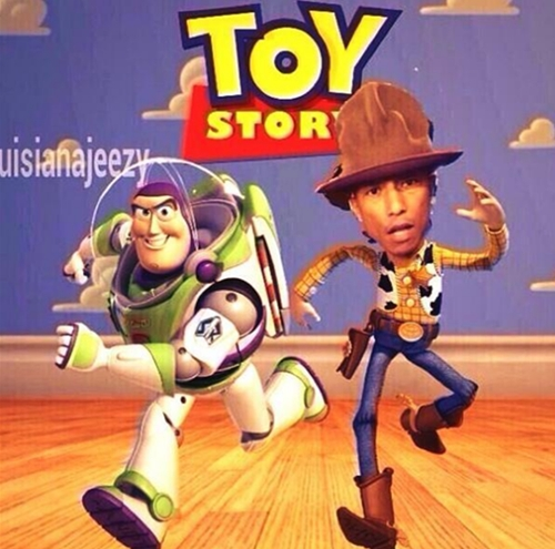 Pharrell Toy Story ugly hat