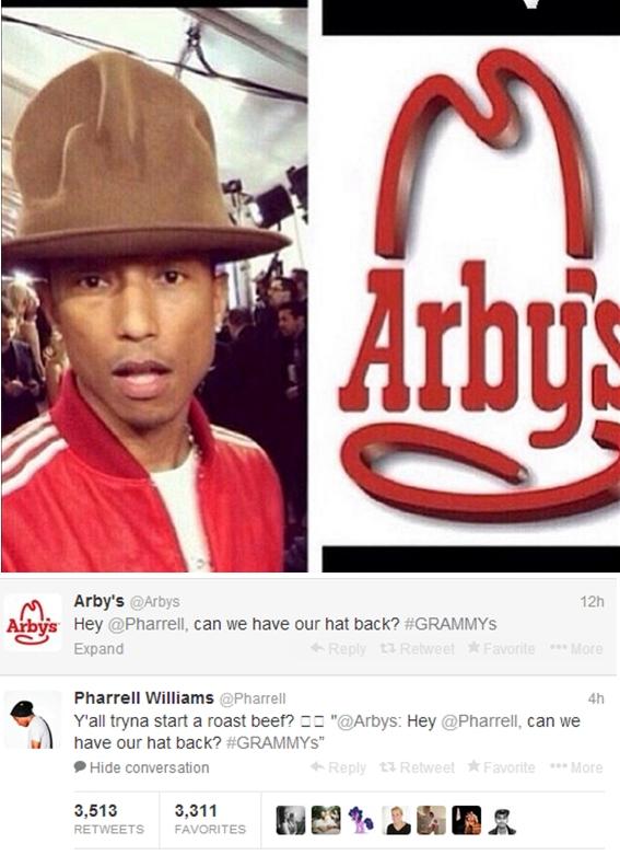 pharrell arbys twitter beef