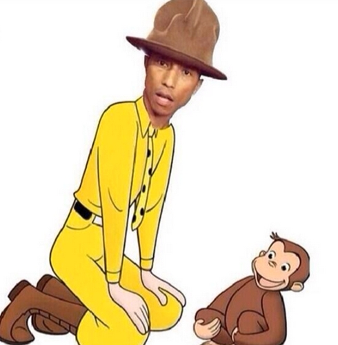 pharrell hat curious george
