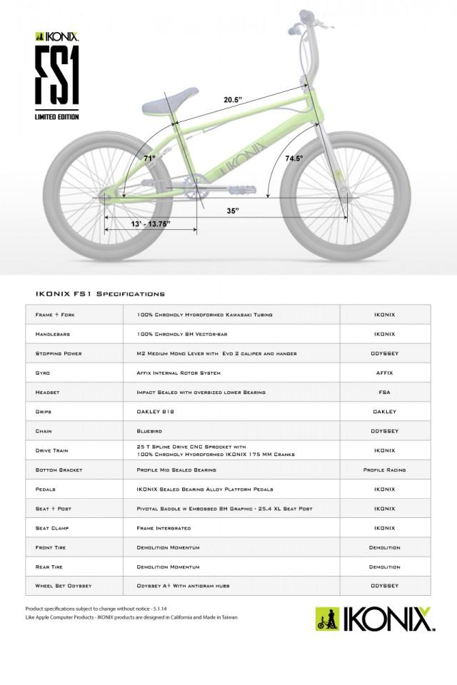ikonix-fs1-specifications