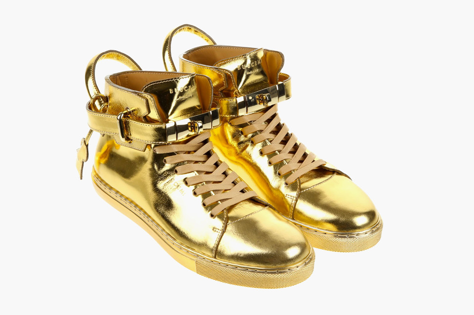 buscemi 100mm gold sneaker. Black Bedroom Furniture Sets. Home Design Ideas