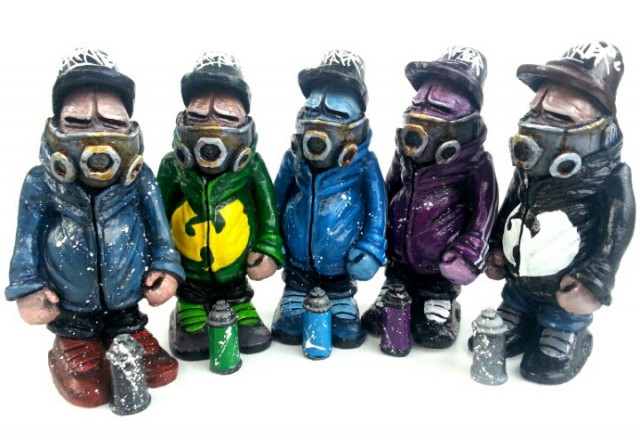 Maskedman resin figures