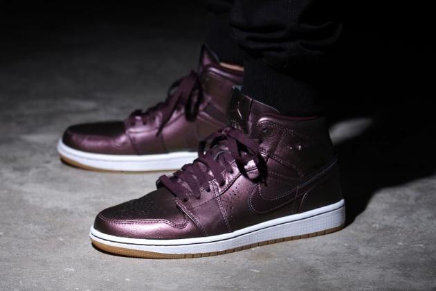 Nike Air Jordan 1 Mi Temps Forts Bordeaux Nouveau