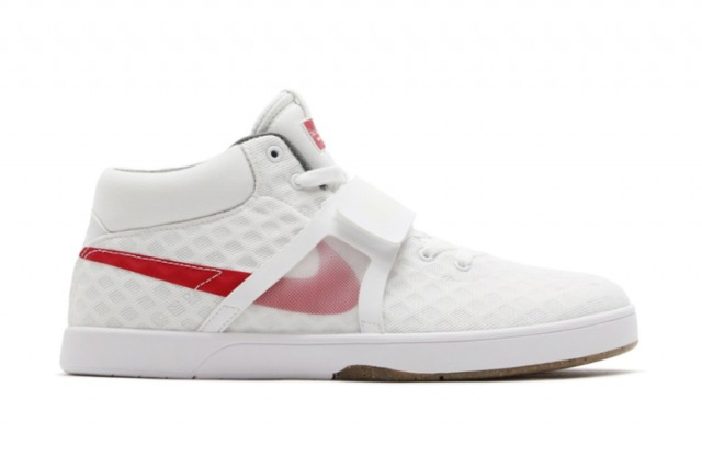Nike white red