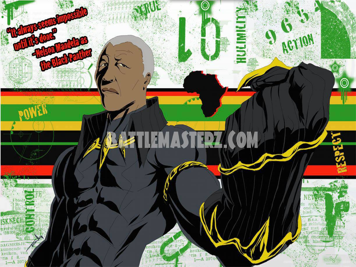 nelson mandella is Black Panther