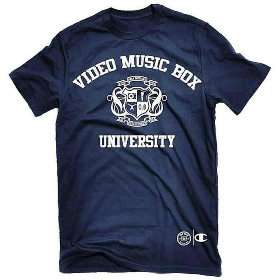 video music box university tee