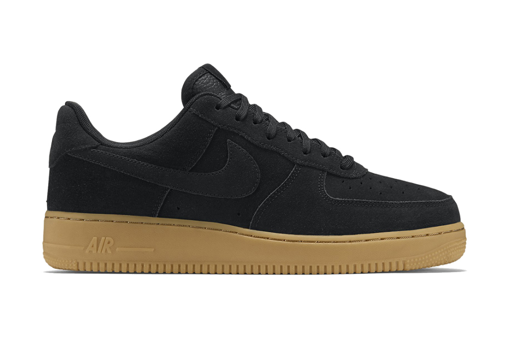 Nike Air Force 1 Faible Fourgons Moyen Gomme Brune