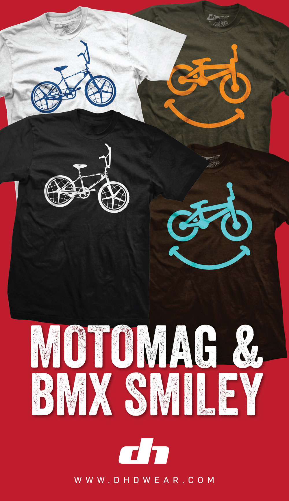moto mag, smiley DHD wear