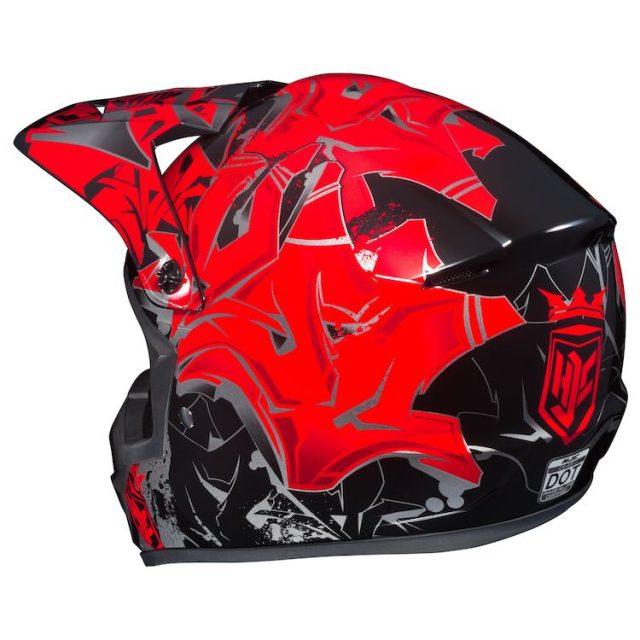 hjc graffed helmet back