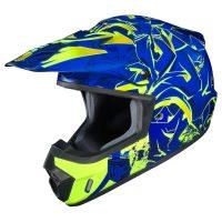 hjc csmx graffed helmet blue yellow