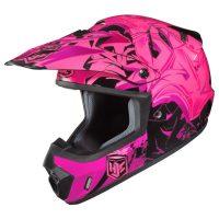 hjc csmx graffed helmet pink black