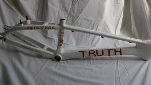truth bmx carbon white side