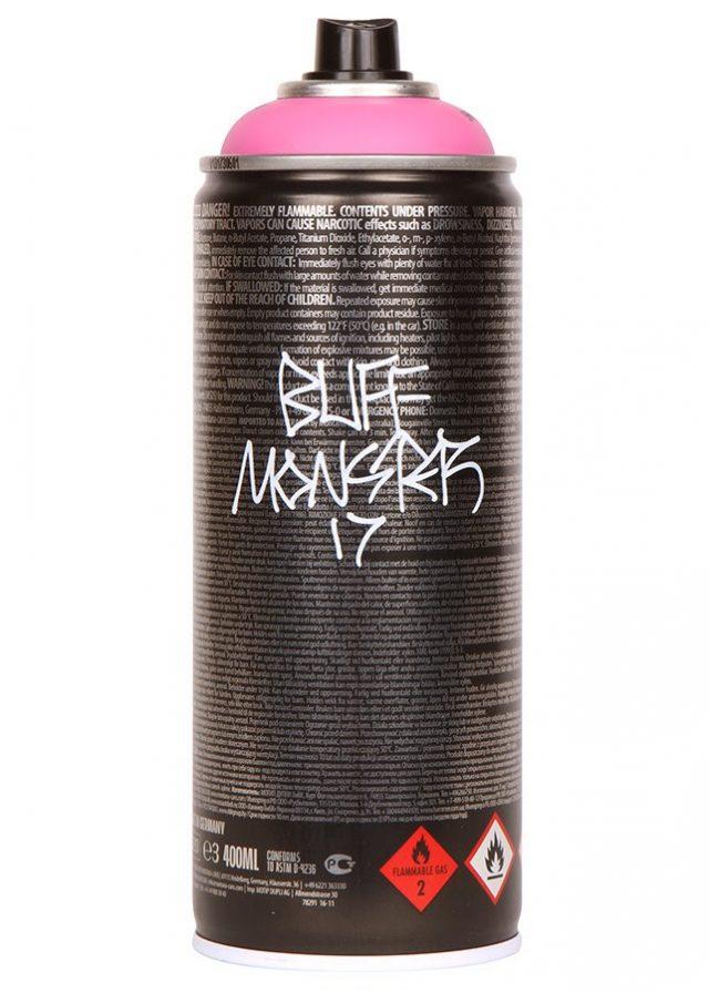 Buff Monster x Montana power pink Signed Artist Edition